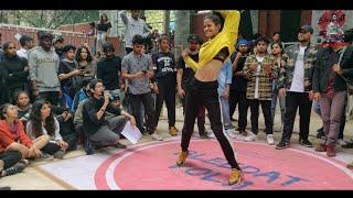 Dance battle in Hansraj college   hip hop dancers in Delhi University