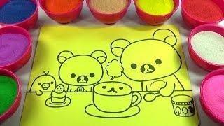 CẢ NHÀ THƯƠNG NHAU!Nhạc Thiếu Nhi!Đồ chơi trẻ em TÔ MÀU TRANH CÁT HÌNH GIA ĐÌNH GẤU Color Sand Paint