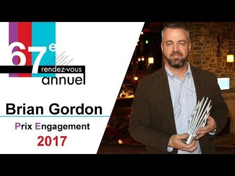 Prix Engagement 2017 - Brian Gordon