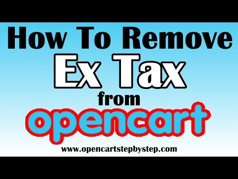 How To Remove Ex Tax From Opencart