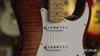 Fender Select Strat in Dark Cherry Burst - Quick Look @ Nevada Music UK