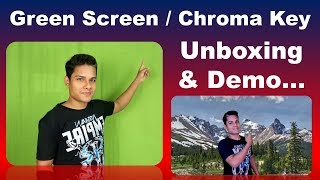 Unboxing Green BackDrop Background for Green Screen/Chroma Key & Demo | How to use Green Screen
