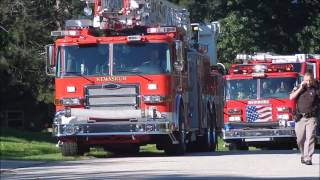 Huge Emergency Response - House Fire in West Bend, WI