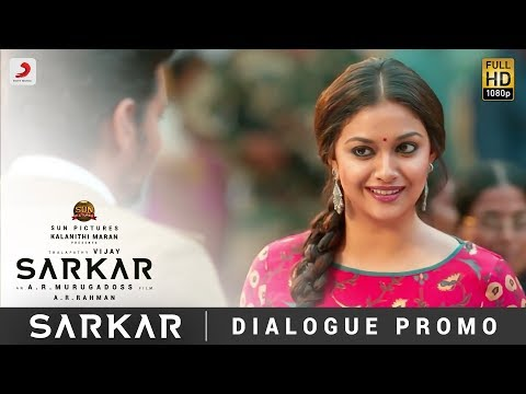 Sarkar- OMG Ponnu Dialogue Promo | Thalapathy Vijay, Keerthy Suresh | A .R. Rahman