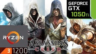 Assassin's Creed Franchise - GTX 1050 ti - 1 - 2 - 3 - 4 - Origins - Unity - Syndicate - Benchmark