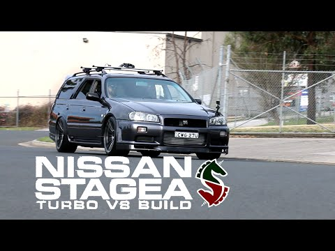 Nissan Stagea 'Double Unicorn' Build - Turbo, V8, Manual & AWD - Episode 1