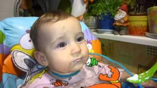 прикорм грудного ребенка. кормим творогом)))))