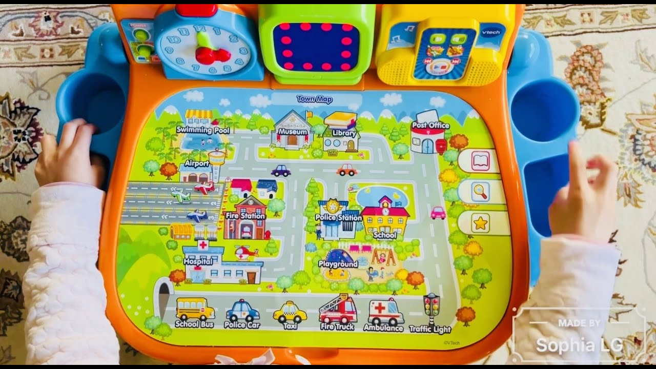 Kid Fun Learning: Vtech Touch and Learn Activity Desk: Town Map (Sophia LG age 4)