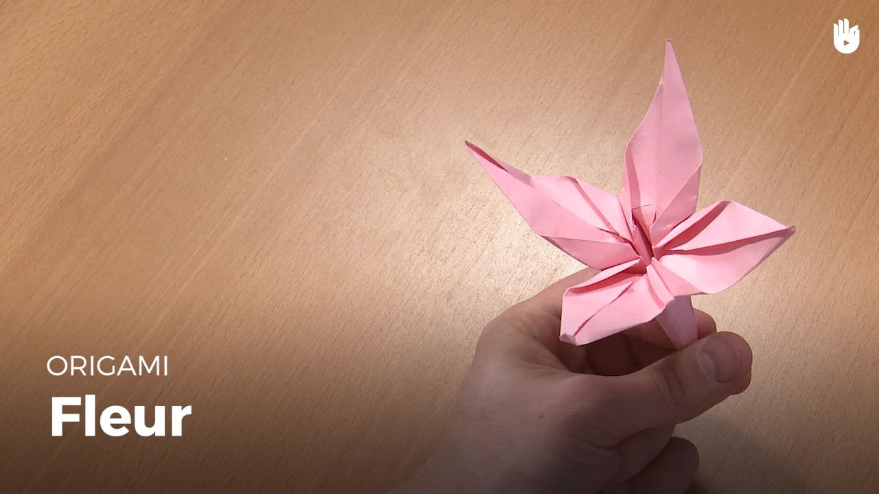 Faire Une Fleur En Papier Origami Youtube
