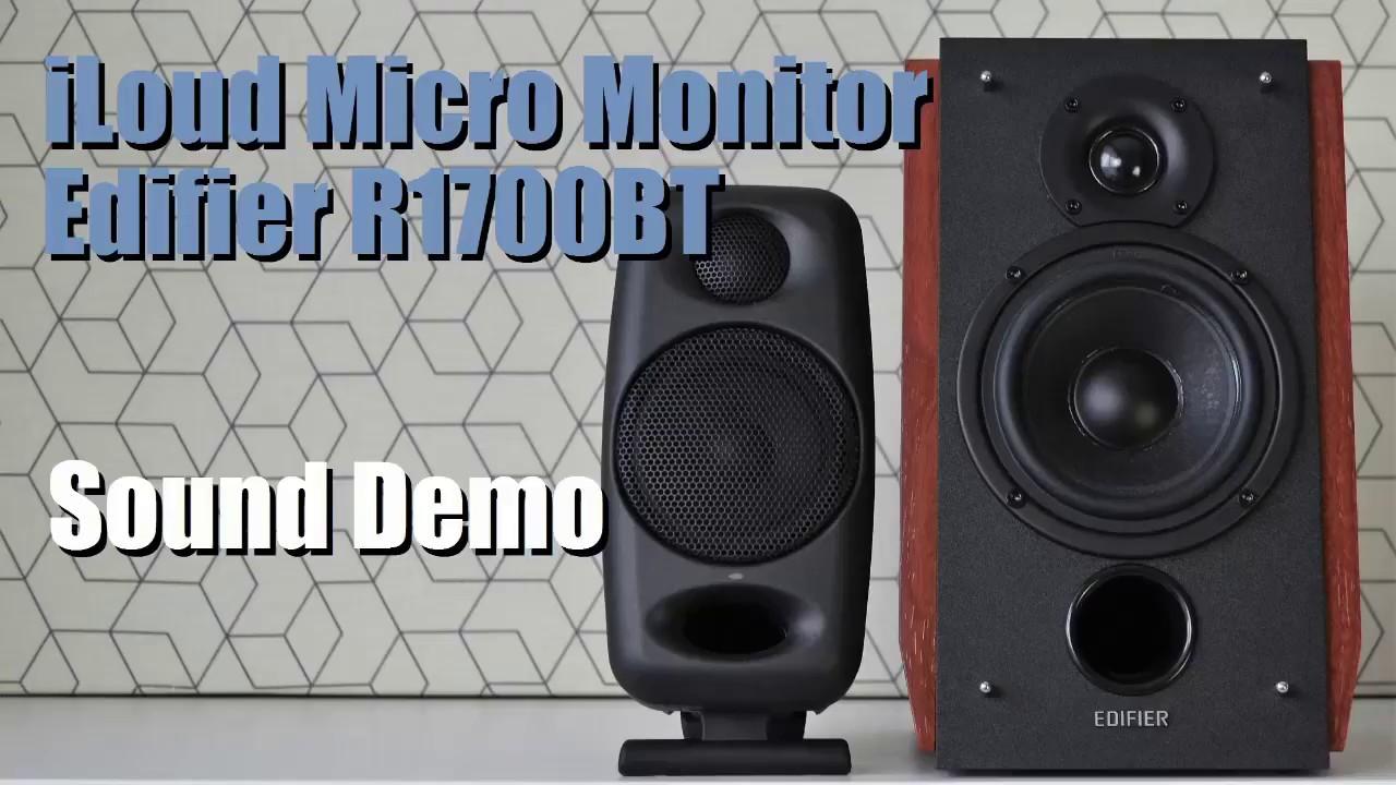 iLoud Micro Monitor vs Edifier R1700BT  ||  Sound Demo w/ Bass Test