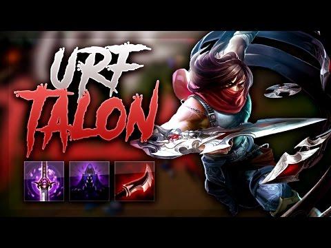 FULL DAMAGE URF TALON! - URF MODE 2017 League Of Legends
