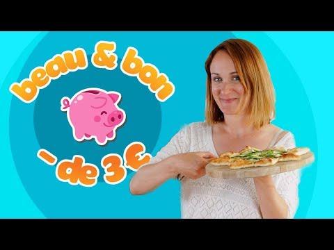 Recette à moins de 3 euros : la pizza blanche aux courgettes !