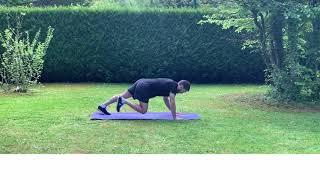 Enchaînement numéro 3 d'exercices en gainage dynamique