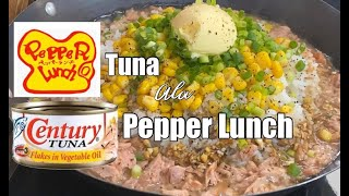 TUNA ala PEPPER LUNCH + garlic soy sauce recipe| Quick & EASY RECIPE 3 minutes Cooking 👌