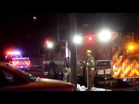 Garage fire, Fulton St., Waterloo, Iowa Feb. 15, 2018
