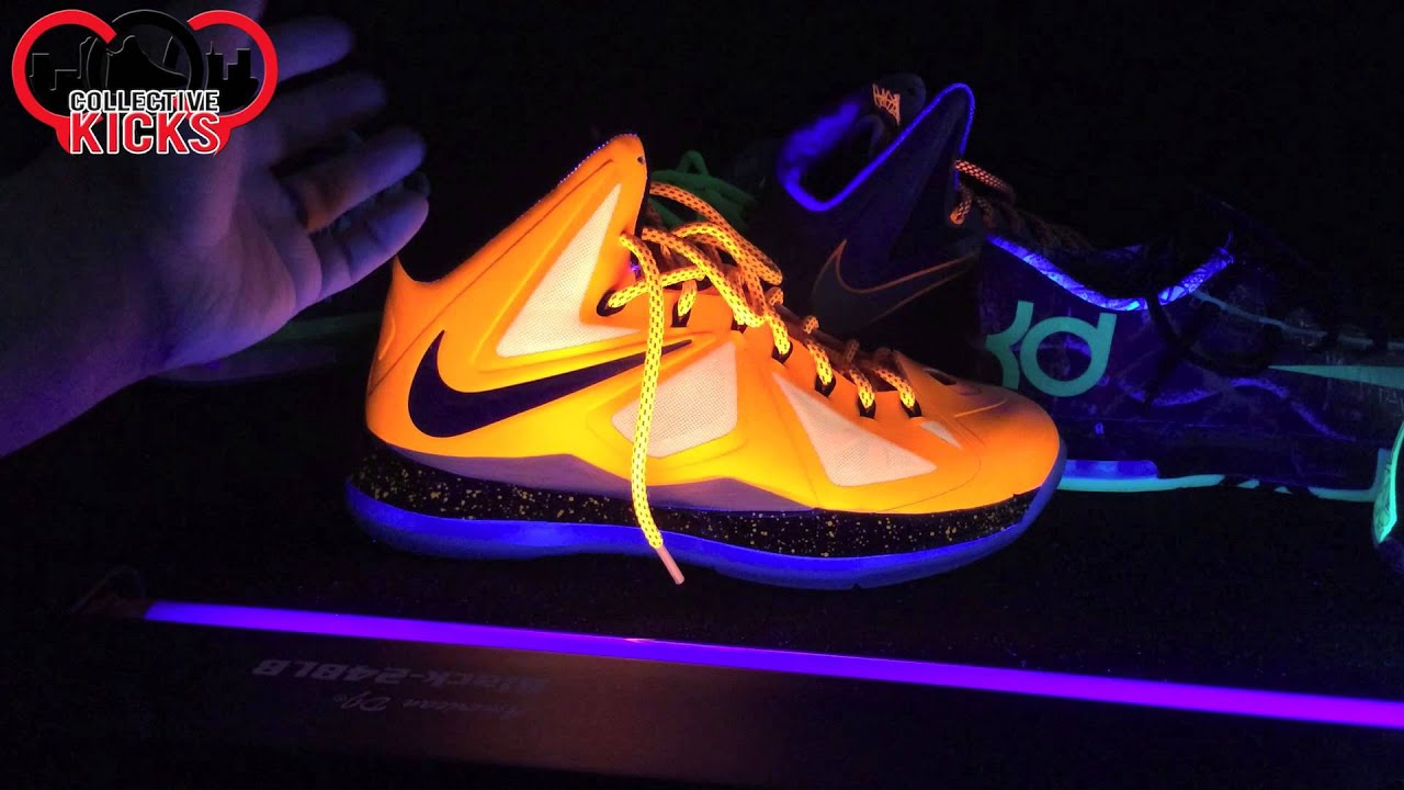 black light up sneakers