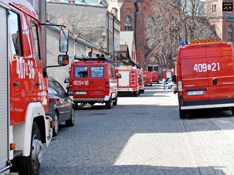 Przejazd kolumny pogrzebowej - JRG Będzin,OSP z terenu Będzina,Policja oraz Pomoc Drogowa
