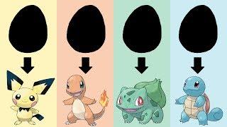 Pokemon Eggs Requests #1: Starters Gen 1 & Pichu Eggs