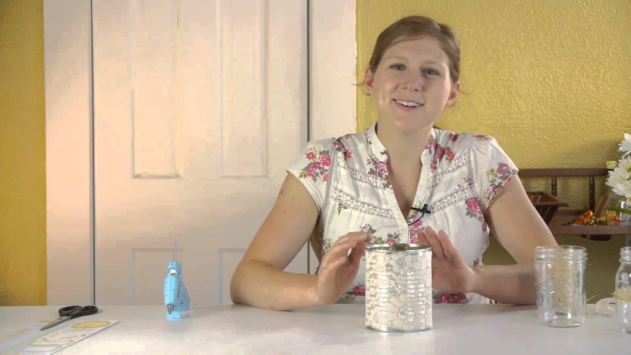 Diy Vintage Wedding Tin Cans Mason Jars Knitting Jar Crafts
