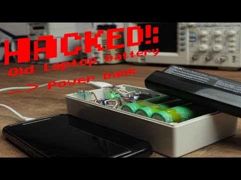 HACKED!: Old laptop battery becomes a Power bank