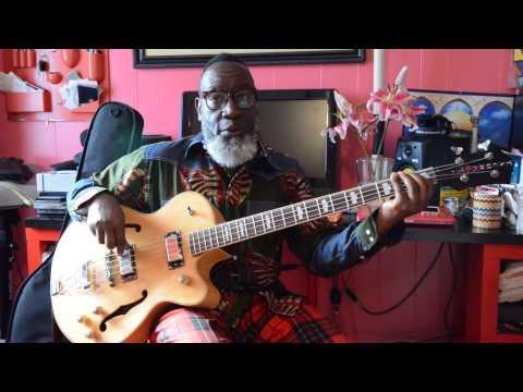 Jamaaladeen Tacuma's TacumART Bass demo through studio monitor
