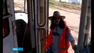 В Уфе работает необычный водитель трамвая.