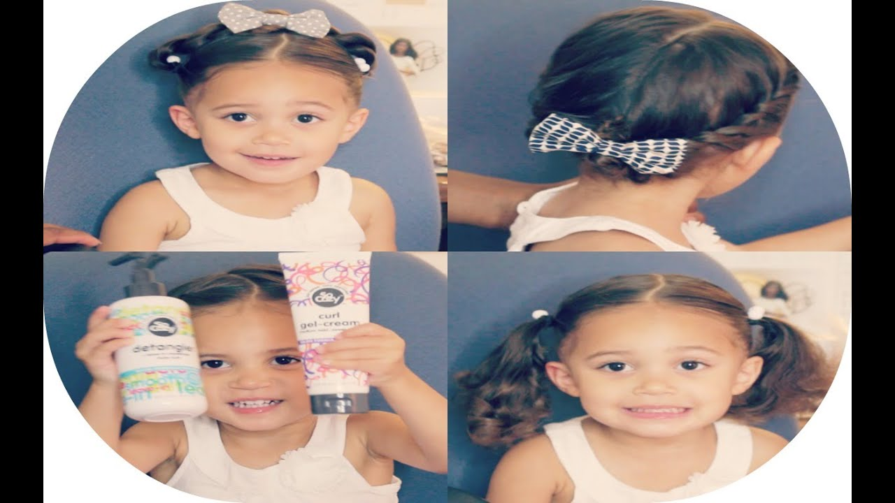 3 quick & easy summer hairstyles for little girls   mixed kids haircare ft. socozy products