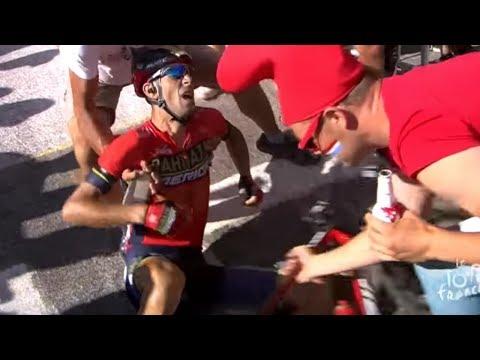 Vincenzo Nibali Crashes out of the 2018 Tour de France Stage 12