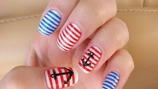 Морской маникюр / Nautical Nail Art(Мой второй канал, для любителей ведения ЛД) http://www.youtube.com/channel/UCSSJZuxcQ7YqbUa1re44XbQ Ссылки на мои видео: ..., 2014-04-02T11:02:28.000Z)