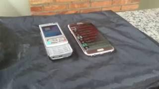 Nokia N95 vs Galaxy S7 Edge Som e Câmera
