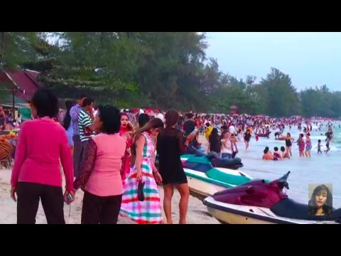 Travel In Cambodia, The View, Maraton And Beautiful Bech At Kampong Som ( Sihanouk Ville)