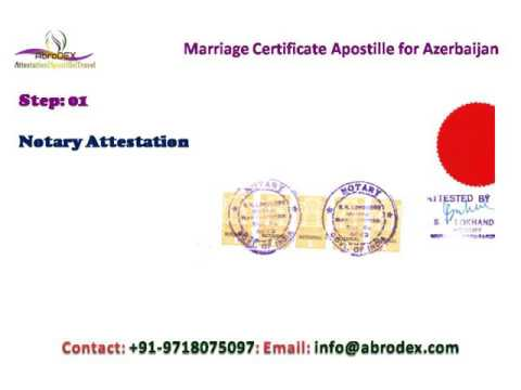 Marriage Certificate Apostille for Azerbaijan