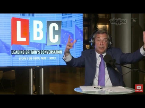 The Nigel Farage Show: From Brussels. Live LBC - 5th April 2017