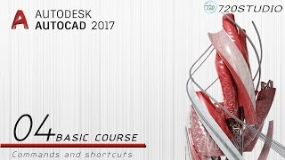 Autocad 2017 - Commands and shortcuts - Beginners Tutorial 04