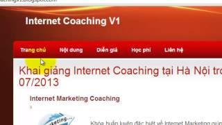 Hướng dẫn tạo Landing Page với Blogger   Internet Coaching V3 0