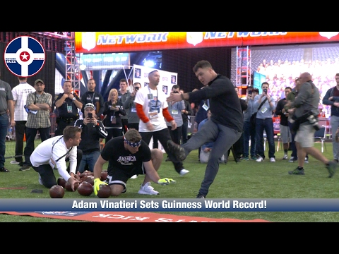 Adam Vinatieri Sets Guinness World Record at NFL Experience!