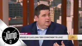 Brian Windhorst reacts to Kevin Love's contract extension | The Jump | ESPN