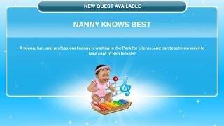 [The Sims Freeplay] - Nanny Knows Best Görevi (Baby Steps -Bebek Adımları- 1.Görev)