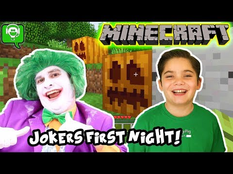 Minecraft FIRST NIGHT with the Joke-Meister!