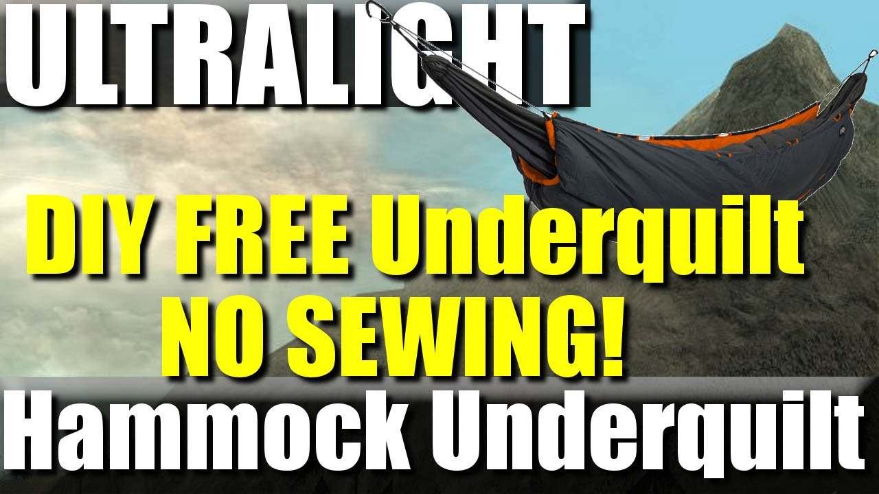 Free Diy Ultralight Hammock Underquilt No Sewing Required