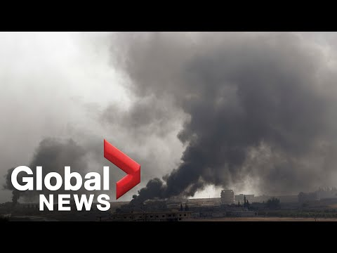 Syria's skyline shrouded in smoke, mortar fire as Turkish military offensive launched