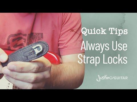 Guitar Quick Tip #3: ALWAYS Use Strap Locks (Guitar Lesson QT-003)