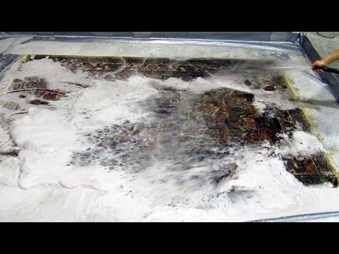 中国緞通丸洗いクリーニング Chinese rug cleaning.