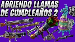 Opening Fortnite Birthday Flames Save the World