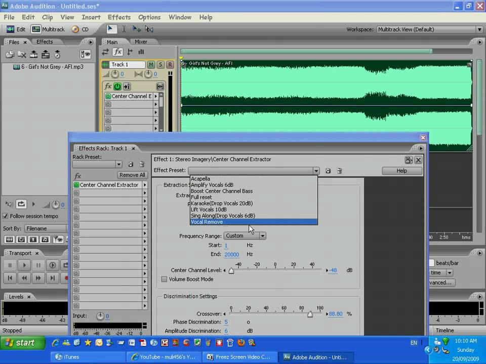 Make Song Instrumental : make a song an instrumental using adobe audition youtube ~ Vivirlamusica.com Haus und Dekorationen