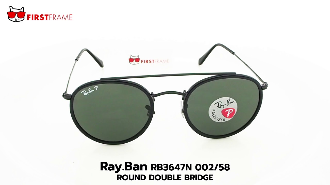 d24310064 RayBan RB3647N 002/58 ROUND DOUBLE BRIDGE. FIRST FRAME