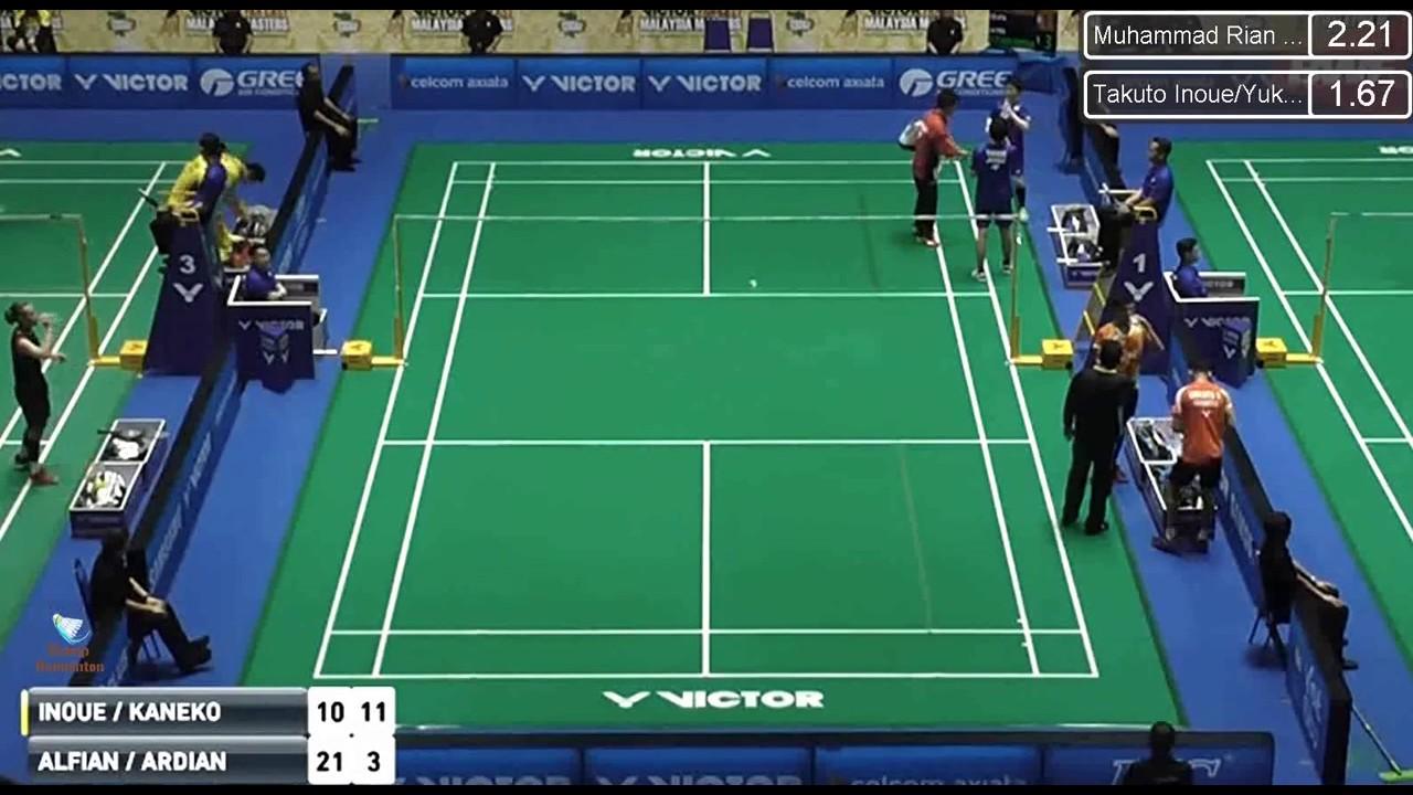 2017 Malaysia Masters R16 MD Takuto INOUE Yuki KANEKO vs ALFIAN