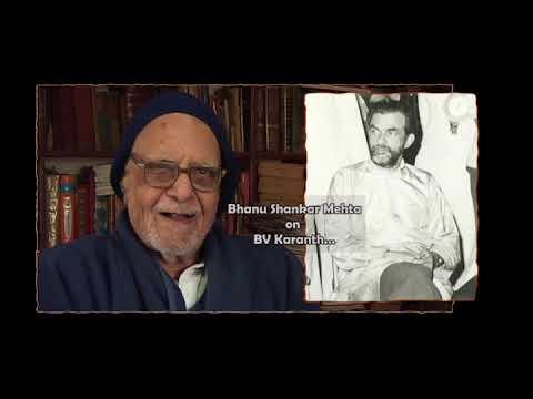 BVK Online Archives 24 -  Bhanu Shankar Mehta on BV Karanth_Hindi