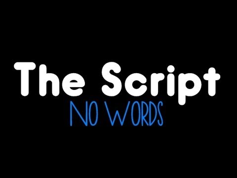 The Script - No Words (LYRICS ON SCREEN)
