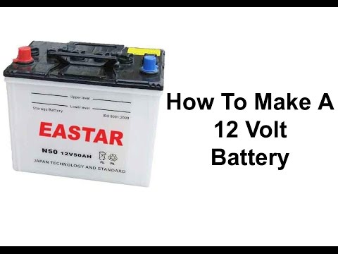 Homemade 12 volt battery